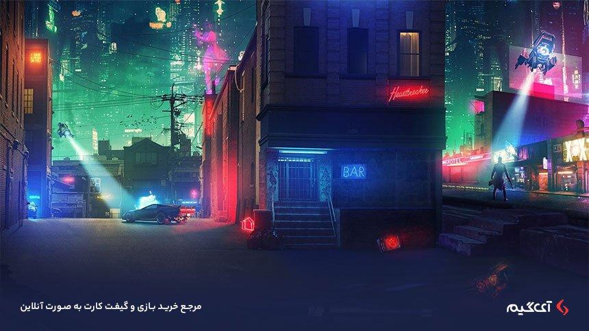 فضای بازی Cyberpunk 2077