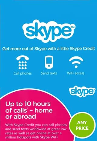 خرید گیفت کارت Skype